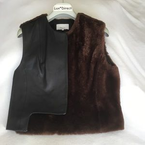 3.1 Phillip Lim Leather and shearling vest size 4